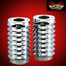 Arlen Ness  Retro Chrome Fork Boot Covers for 1986-2013 Harley Davidson Touring