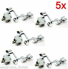 5x White Headphone Audio Jack Power Volume Flex Cable for iPhone 4G GSM b77