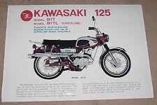 1969 KAWASAKI B1TL 125 VINTAGE MOTORCYCLE POSTER 24x36