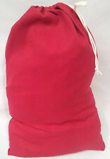 HEAVY DUTY 20x30 CANVAS LAUNDRY BAG  - RED  *****MADE IN USA*****