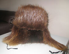 Genuine Vintage Warm Russian Hat Ushanka Cossack Style Real Beaver Fur