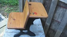 VINTAGE HAND MADE SOLID WOOD CHILD'S OR DOLL / BEAR PRIMITIVE SCHOOL DESK CHAIR