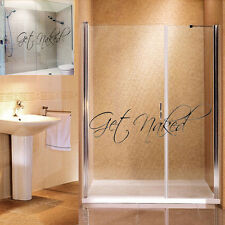 Get Naked Bathroom Funny Sticker Waterproof  Vinyl Adhesive Art Decor Wall Decal