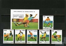 BENIN 1996 Sc#822-828 SOCCER WORLD CUP FRANCE SET OF 6 STAMPS & S/S MNH