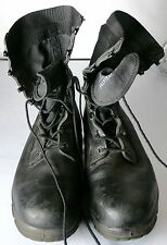 MILITARY BOOTS BLACK LEATHER COTTON MENS SIZE 10 MEDIUM