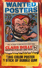 TOPPS WANTED POSTER UNOPENED STILL IN WAX WRAPPER 1980.