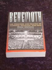 Neumann - Behemoth: Structure and Practice of National Socialism 1933-1944 nazis