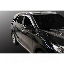 New Chrome Side Window Vent Visors Rain Guards for Kia 2016 Sorento (All New)