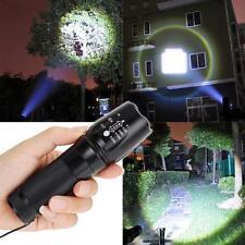 10000LM Zoomable XML T6 LED 18650 torcia elettrica messa a fuoco della torcia SS
