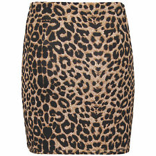 WOMENS LADIES BODYCON SHORT STRETCHY PRINTED MINI JERSEY PENCIL SKIRT SIZE 8-22