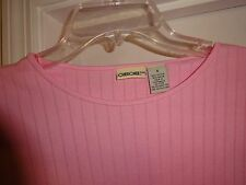 CHEROKEE Pink Size Small Ladies Top Short Sleeve Cotton / Rayon