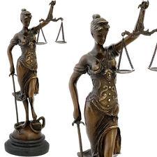 BRONZE JUSTITIA FIGUR ca.40cm JUSTICE LADY BRONZEFIGUR JUSTIZIA GÖTTIN RECHT NEU