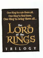 +  HERR DER RINGE  / LORD OF THE RINGS Aufnäher/Patch  RING-TRILOGY