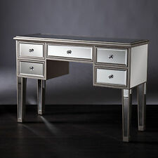 CMC75919 SILVERED MIRRORED 5 DRAWERS CONSOLE / DESK