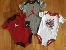 Nike Jordan Jumpman Infant Boys One Piece Body Suits Red Gray NWT 6-9 Months