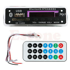 New Car Wireless Bluetooth 12V MP3 WMA Decoder Board Audio Module USB TF Radio