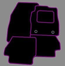 SEAT LEON FR 2013 ONWARDS TAILORED CAR FLOOR MATS- BLACK WITH PURPLE TRIM