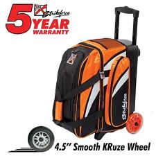 KR Strikeforce Cruiser Smooth Black/Orange 2 Ball Roller Bowling Bag
