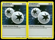 Pokemon DOUBLE COLORLESS ENERGY 74/83 - Generations - - MINT 2X