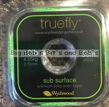 Nouveau 2 x 50m wychwood Truefly sub surface tippet ligne 10LB 100m fly leader