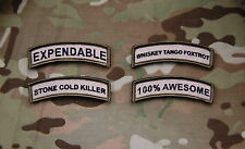 Morale Patch Tab Collection Set Multicam Afghanistan WTF EXPENDABLE Hook & Loop