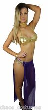 Sexy Princess Leia Belly Dancer Arabian  Halloween Costume 6 8 10