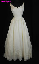 ORG $599 Avica Ivory 8 Formal Wedding Dress Bridal A-line Gown Dress