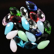 30 Pieces 10X20mm Swarovski Teardrop  crystal bead A multi-colored