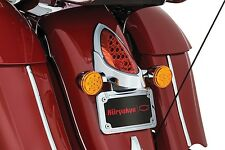 KURYAKYN CURVED LED LICENSE PLATE FRAME INDIAN CHIEFTAIN ROADMASTER 2014-2016