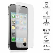 100% GENUINE TEMPERED GLASS SCREEN PROTECTOR FOR APPLE IPHONE 4/4S
