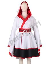 Assassin's Creed III Connor Female Lolita Kimono Dress Game Cosplay Costume