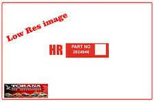"""Decal, Wiper Motor """"HR"""" to suit LX Torana (prior to 11/1977)"""