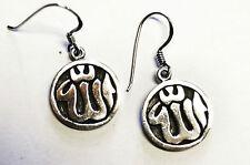 Ohrringe ALLAH Schriftzeichen Symbol ECHT 925 Silber ISLAM Moslem Religion SS266