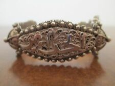 Vintage Silver Two-Panel  Cuff Bracelet Made in the Middle East, 51.0 grams