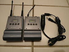 @ CLEAN SONY UHF URX-P1 TUNER & UTX-B1 TRANSMITTER & WIRELESS MIC MICROPHONE @