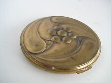 Vintage VOLUPTE USA Make-up or Powder Compact brass-tone ORNATE Art Deco Design