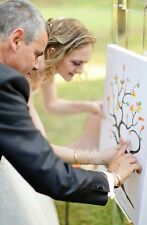A3 Fingerprint / Thumbprint Tree CANVAS- Unusual Wedding Gift / guest book