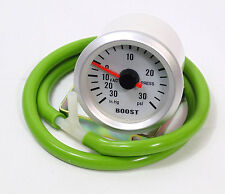 S4 52mm Turbo Boost gauge 30 Psi Landrover 4x4 With Green Silicone