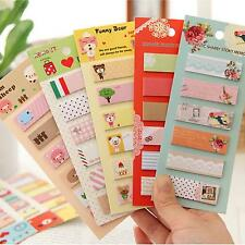 120Pages/Book Cartoon Sticker Post It Bookmark Marker Memo Tab Sticky Notes Gift