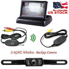 "Car Rear View System Wireless Backup Camera  + 4.3"" TFT LCD Monitor US Stock"