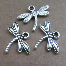 20x Charms Dragonfly Animal Pendant Beads Crafts Tibetan Silver Wholesale S553T
