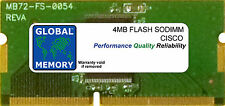 4MB FLASH SODIMM CISCO 871/871W/876 ADSL/877 ADSL/878/878W ROUTERS ( MEM870-4F )