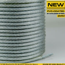 3 mm 7x7 Stainless Steel PVC Coated Wire Rope Cable Balustrade Cable Per Metre
