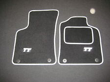 Audi TT ROADSTER Mk1 (1999-2006) Car Mats in Black with Silver trim + TT Logos