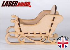 Freestanding MDF Santa Christmas Sleigh - Ideal for craft & decoupage 3D