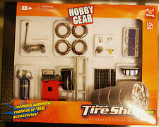 18422 Garage Werkstatt Zubehör Reifenhandel Tire Shop, 1:24, Hobby Gear