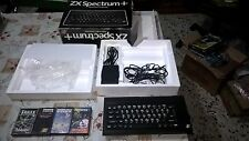 BUNDLE LOTTO SINCLAIR  ZX SPECTRUM PLUS + 3 GIOCHI - VINTAGE- RETROCOMPUTER