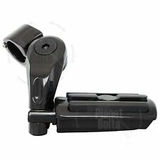 Black Universal Adjustable Highway Pegs Short Angled Crash Bar Mount Foot Rest