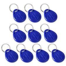 10 x NFC Card Key Chain RFID Keyfob Token Proximity 125KHZ TK4100 Tag ID Access