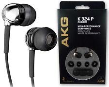 AKG K324 P Chrome and Black In-Ear Earbuds Earphones Headphones